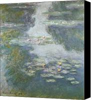 Impressionist Canvas Prints - Waterlilies Canvas Print by Claude Monet