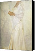 Scarf Photo Canvas Prints - Wedding Dress Canvas Print by Joana Kruse