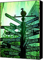 Pioneer Square Canvas Prints - Where to go Canvas Print by Cathie Tyler