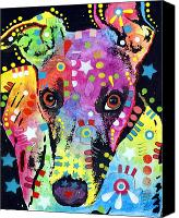 Whippet Canvas Prints - Whippet Canvas Print by Dean Russo