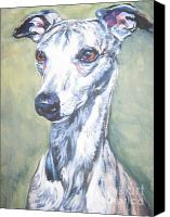 Whippet Canvas Prints - Whippet Canvas Print by Lee Ann Shepard