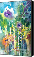 Mjonesart Canvas Prints - Wildflowers Canvas Print by Micheal Jones