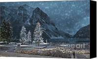 Flurries Canvas Prints - Winters Walk Canvas Print by Andrea Hazel Ihlefeld