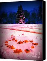 Snowy Night Canvas Prints - With love from America Canvas Print by Lj Lambert