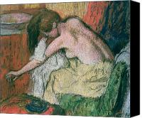 Dry Pastels Canvas Prints - Woman Drying Herself Canvas Print by Edgar Degas