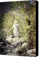 Barefoot Canvas Prints - Woman In A Forest Canvas Print by Joana Kruse