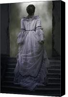 Spooky Photo Canvas Prints - Woman On Steps Canvas Print by Joana Kruse