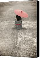 Belt Canvas Prints - Woman On The Street Canvas Print by Joana Kruse
