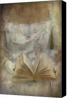 Torso Canvas Prints - Woman With A Book Canvas Print by Joana Kruse