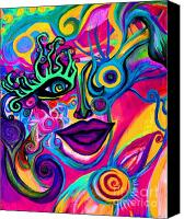 Joy Tagliavia Canvas Prints - Wonkey Canvas Print by Joy Tagliavia
