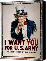 Flagg Canvas Prints - World War I: Uncle Sam Canvas Print by Granger