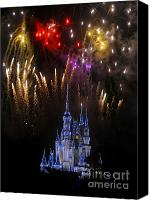 Fireworks Photo Canvas Prints - Wow Canvas Print by David Lee Thompson