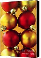 Celebrating Canvas Prints - Xmas Balls Canvas Print by Carlos Caetano