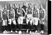 Basketball Canvas Prints - Yale Basketball Team, 1901 Canvas Print by Granger