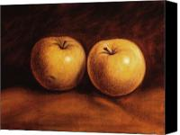 Food Painting Canvas Prints - Yellow Apples Canvas Print by Rick McClung