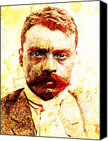 Emiliano Canvas Prints - Zapata Canvas Print by Juan Jose Espinoza