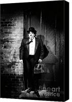 Light Suit Photo Canvas Prints - Charlie Chaplin Canvas Print by Oleksiy Maksymenko