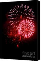Photos Of Autumn Canvas Prints - Fireworks Canvas Print by Brent Parks
