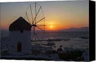 Upper Canvas Prints - Mykonos Canvas Print by Joana Kruse