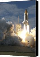 Billows Canvas Prints - Space Shuttle Atlantis Lifts Canvas Print by Stocktrek Images