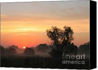 Screen Doors Canvas Prints - Sunset Canvas Print by Odon Czintos