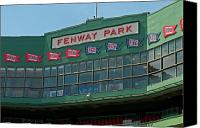Fenway Park Canvas Prints - 100 Years Canvas Print by Paul Mangold