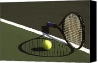 Tennis Canvas Prints - 10sne1 Canvas Print by Gerard Fritz