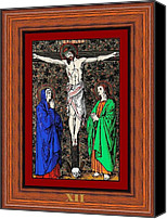 Icon  Glass Art Canvas Prints - Drumul Crucii - Stations Of The Cross  Canvas Print by Buclea Cristian Petru