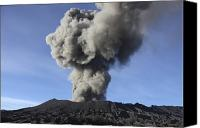 Eruption Canvas Prints - Eruption Of Ash Cloud From Mount Bromo Canvas Print by Richard Roscoe