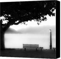 Autumn Foliage Canvas Prints - Lake Maggiore Canvas Print by Joana Kruse