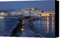 Old Town Canvas Prints - Naxos - Cyclades - Greece Canvas Print by Joana Kruse