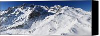 Snowboard Canvas Prints - Serre Chevalier in the French Alps Canvas Print by Pierre Leclerc