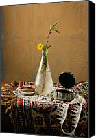 Still Life Pyrography Canvas Prints - Still life Canvas Print by Vasil Vasilev