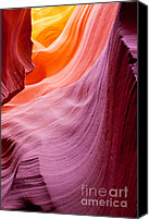 Arid Canvas Prints - Antelope canyon Canvas Print by Sabino Parente