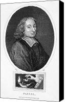 Oil Lamp Canvas Prints - Blaise Pascal (1623-1662) Canvas Print by Granger
