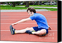 Sports Photo Canvas Prints - Stretching Exercises Canvas Print by Photo Researchers