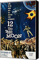 1960 Movies Canvas Prints - 12 To The Moon, 1960 Canvas Print by Everett
