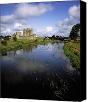 White River Scene Canvas Prints - 12th Century Trim Castle, On The River Canvas Print by The Irish Image Collection