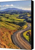 Rural Scenery Canvas Prints - Landscape Canvas Print by Les Cunliffe