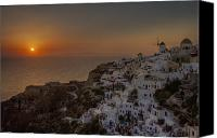Cyclades Canvas Prints - Oia - Santorini Canvas Print by Joana Kruse