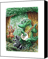 State Park Painting Canvas Prints - 13 - Stephen Foster State Park - Singing Dancing Canvas Print by Rob Smith