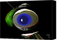 Eye Ball Canvas Prints - Untitled Canvas Print by John Mueller