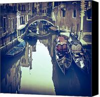Old Houses Canvas Prints - Venezia Canvas Print by Joana Kruse