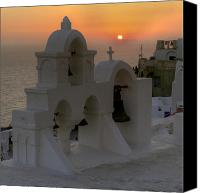 Volcano Canvas Prints - Oia - Santorini Canvas Print by Joana Kruse