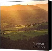 Sheep Photo Canvas Prints - Welsh Sunsets Canvas Print by Angel  Tarantella