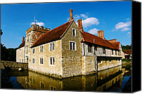Architecture Canvas Prints - 14th Century house on the water Canvas Print by Stuart Perkins