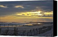 Kevin Sherf Canvas Prints - 14th Street Fishing Pier Bright Canvas Print by Kevin  Sherf