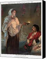 Oil Lamp Canvas Prints - Florence Nightingale  Canvas Print by Granger