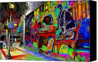 Minute Digital Art Canvas Prints - 15 Minute Parking Canvas Print by David Lee Thompson
