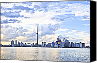Waterfront Canvas Prints - Toronto skyline Canvas Print by Elena Elisseeva